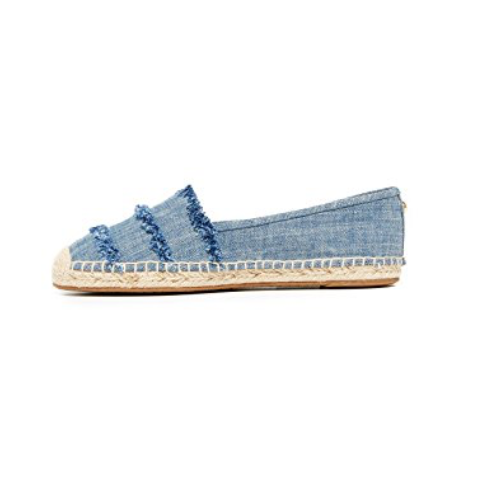 Michael Michael Kors Tibby Frayed Washed Denim Espadrille Flats-Shoes-Michael Kors-6-ShoeShock