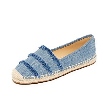 26122bb4fc8197 Michael Michael Kors Tibby Frayed Washed Denim Espadrille Flats-Shoes-Michael  Kors-6