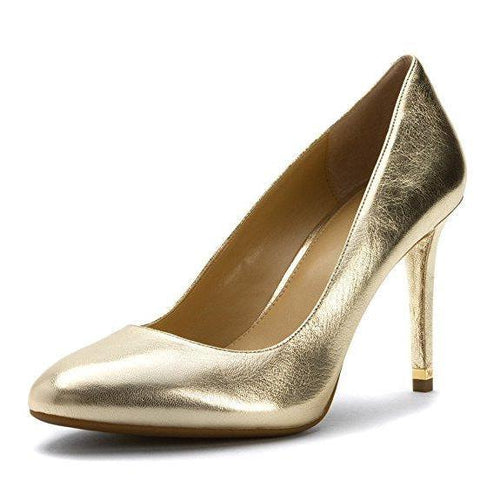 MICHAEL Michael Kors Women's Ashby Gold Metallic Nappa Pump-Shoes-Michael Kors-8-ShoeShock