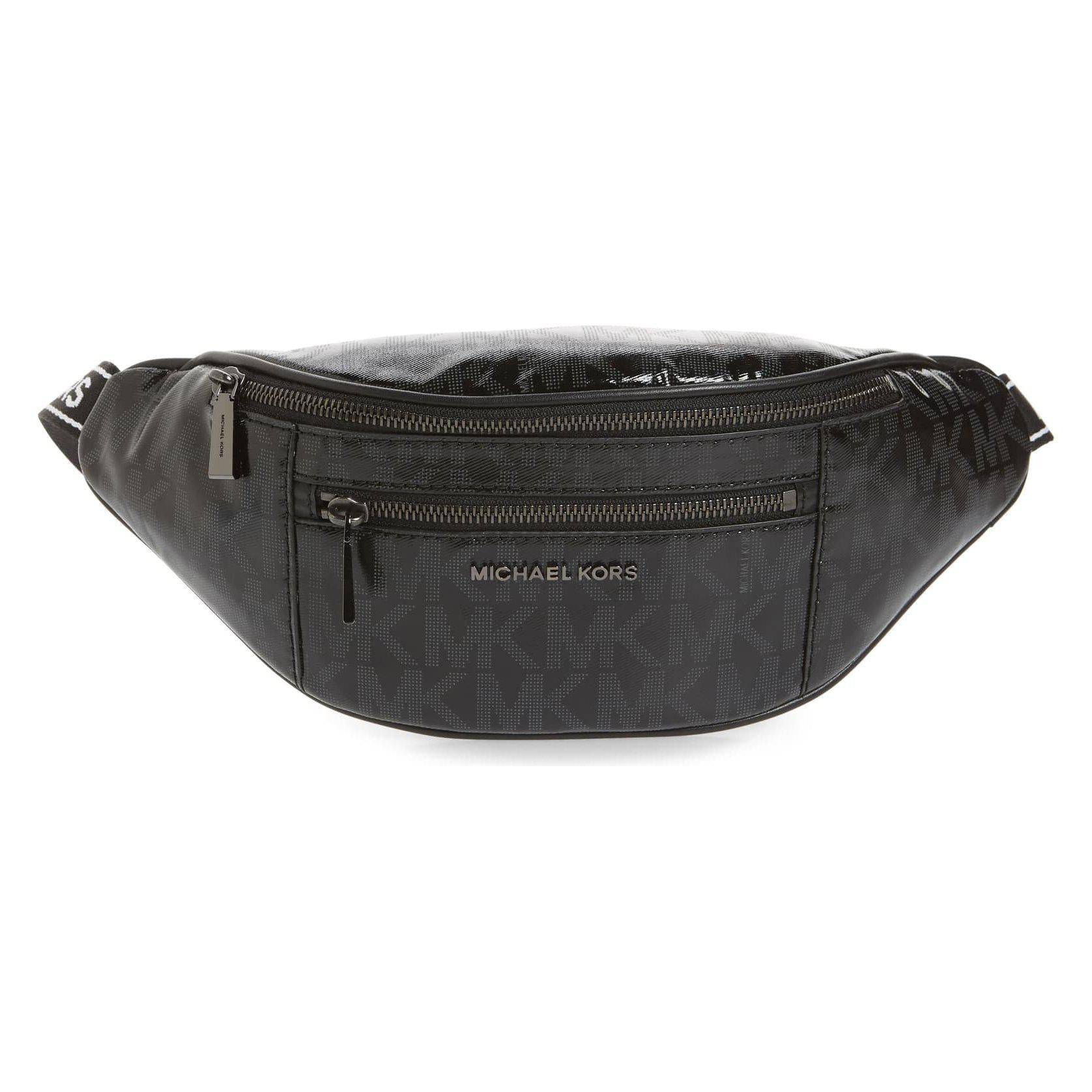 Mott Medium Belt Bag Black Leather Sport