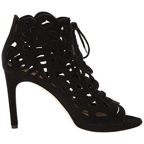 Via Spiga Oria Cutout Lace Up Open Toe High Heel Booties-Shoes-Via Spiga-9-ShoeShock