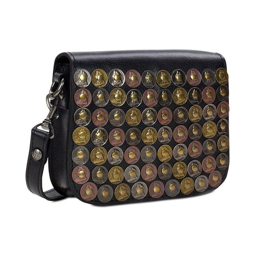 Patricia Nash Studded Coin Rivoli Small Flap Crossbody-Handbags & Accessories-Patricia Nash-ShoeShock