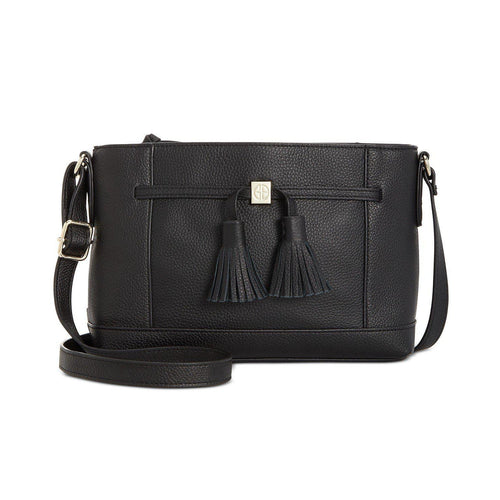 Pebble Leather Tassel Crossbody