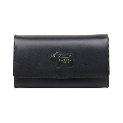 Profile Dog Large Flapover Leather Wallet