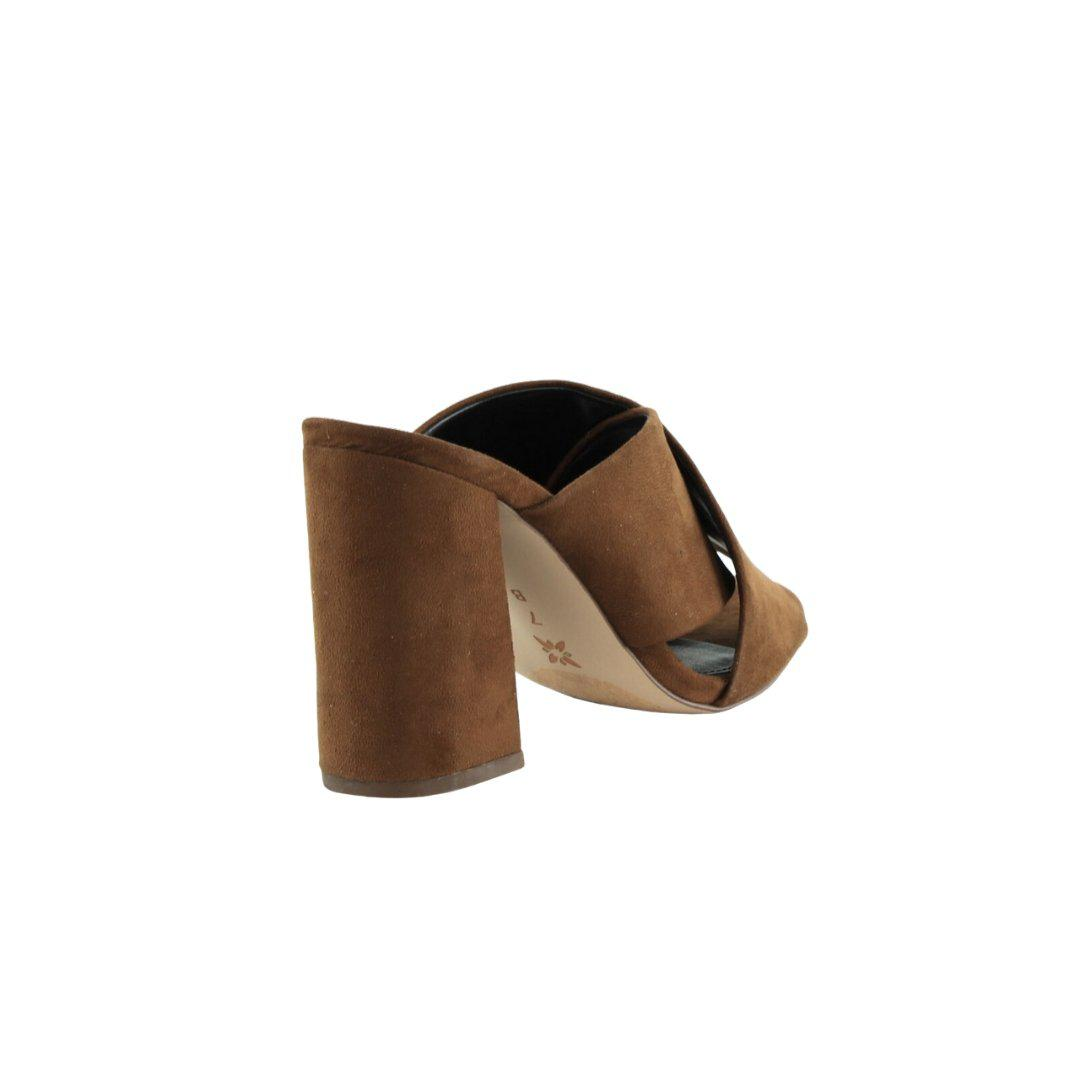 Rachel Cross-Band Dress Sandals Oak