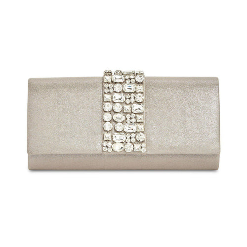 Rhinestone Metallic Clutch