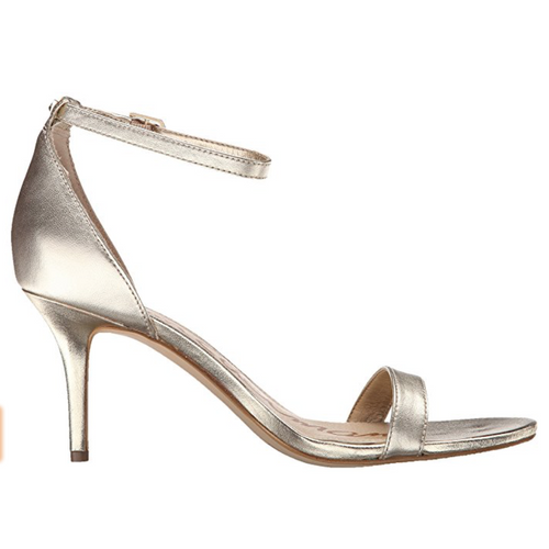 Sam Edelman Sam Edelman Patti Metallic Ankle Strap Sandals-Shoes-Sam Edelman-6-ShoeShock