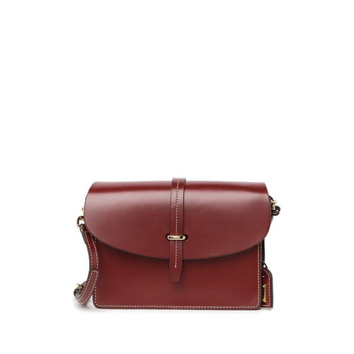 Selleria Oxblood Leather Flap Crossbody
