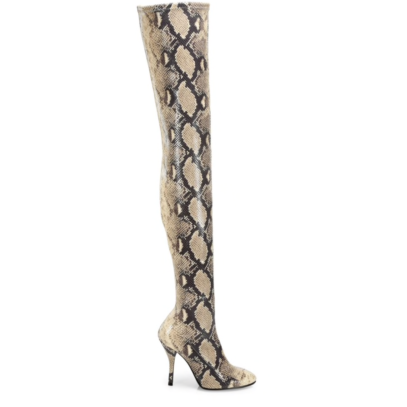 Shiloh Snake-Print Over-the-Knee Boots