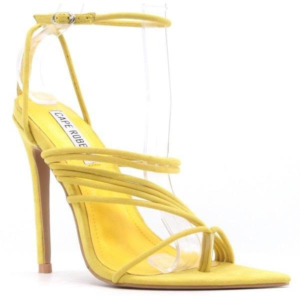 Solstice Women's Strappy Stiletto Pointy Toe Sandals