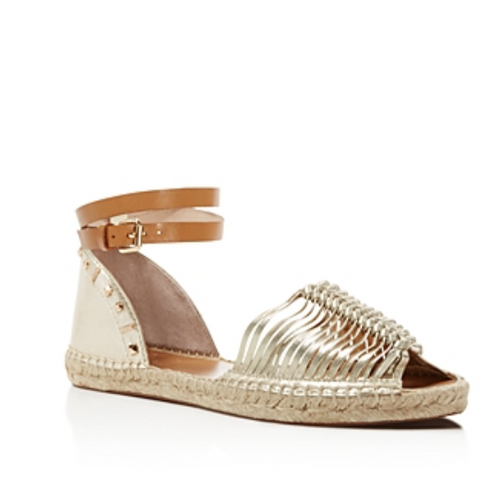 French Connection Women's Usha Gold Sandal-Shoes-French Connection-6-ShoeShock
