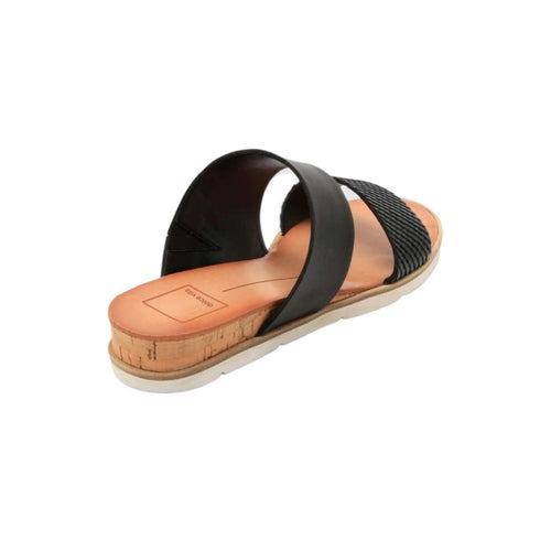 Vala Embossed-Leather Slide Sandals