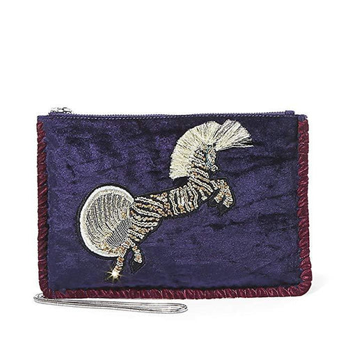 Steve Madden Velvet Pegasus Small Convertible Pouch-Handbags & Accessories-Steve Madden-ShoeShock