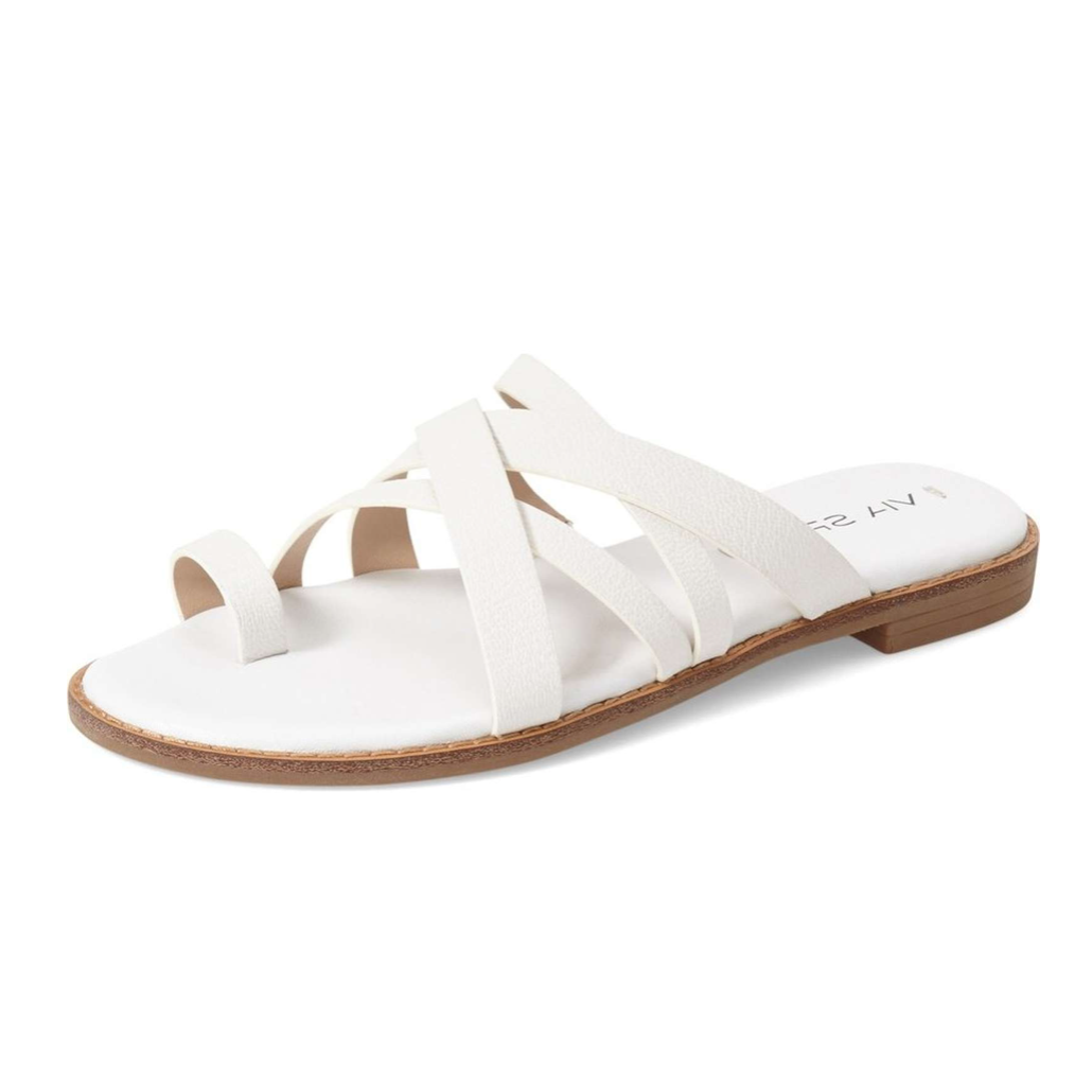 Via Spiga Reese Crisscross Slide Flat Sandals-Shoes-Via Spiga-6-ShoeShock
