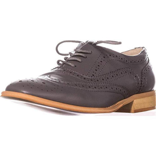 Wanted Women's Babe Lace Up Oxford Gray-Shoes-Wanted-7-ShoeShock