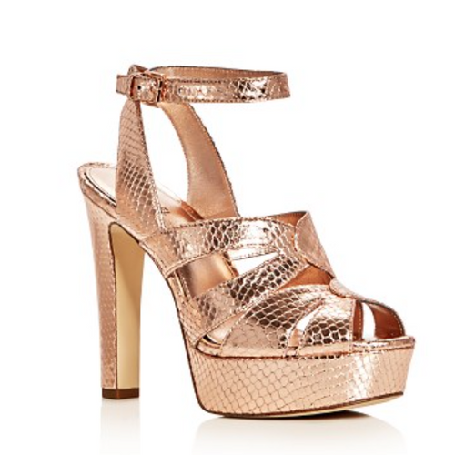 Michael Kors Winona Snake Embossed Metallic High Heel Platform Sandals-Shoes-Michael Kors-6-ShoeShock