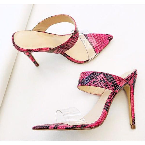 Women's Clear Pointy Toe Stiletto Mules
