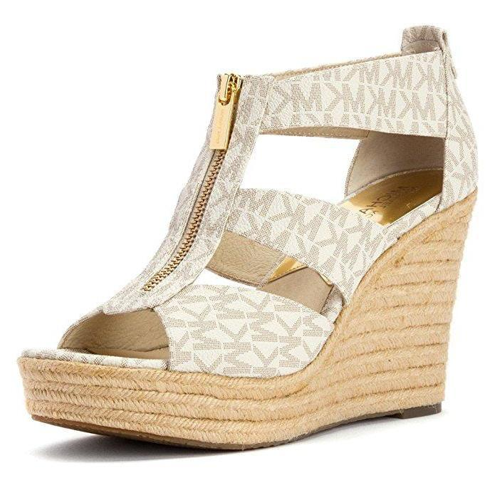 8172a2821d9f Women s MICHAEL Michael Kors  Damita  Wedge Sandal Vanilla-Shoes-Michael  Kors-
