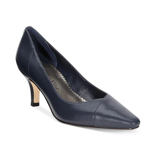 Wow Navy Kidskin Pump