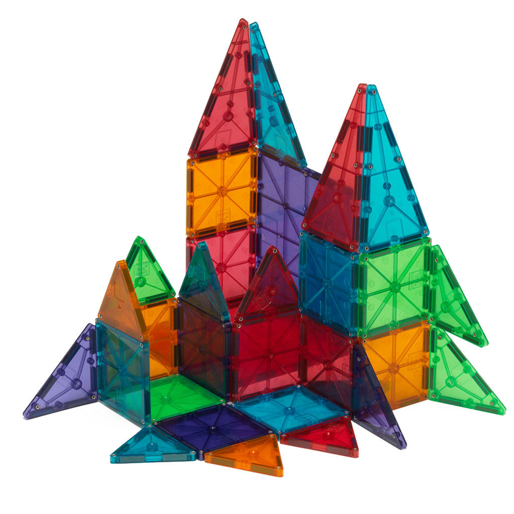 Magna-Tiles - Clear Colors - 100 Pc Set