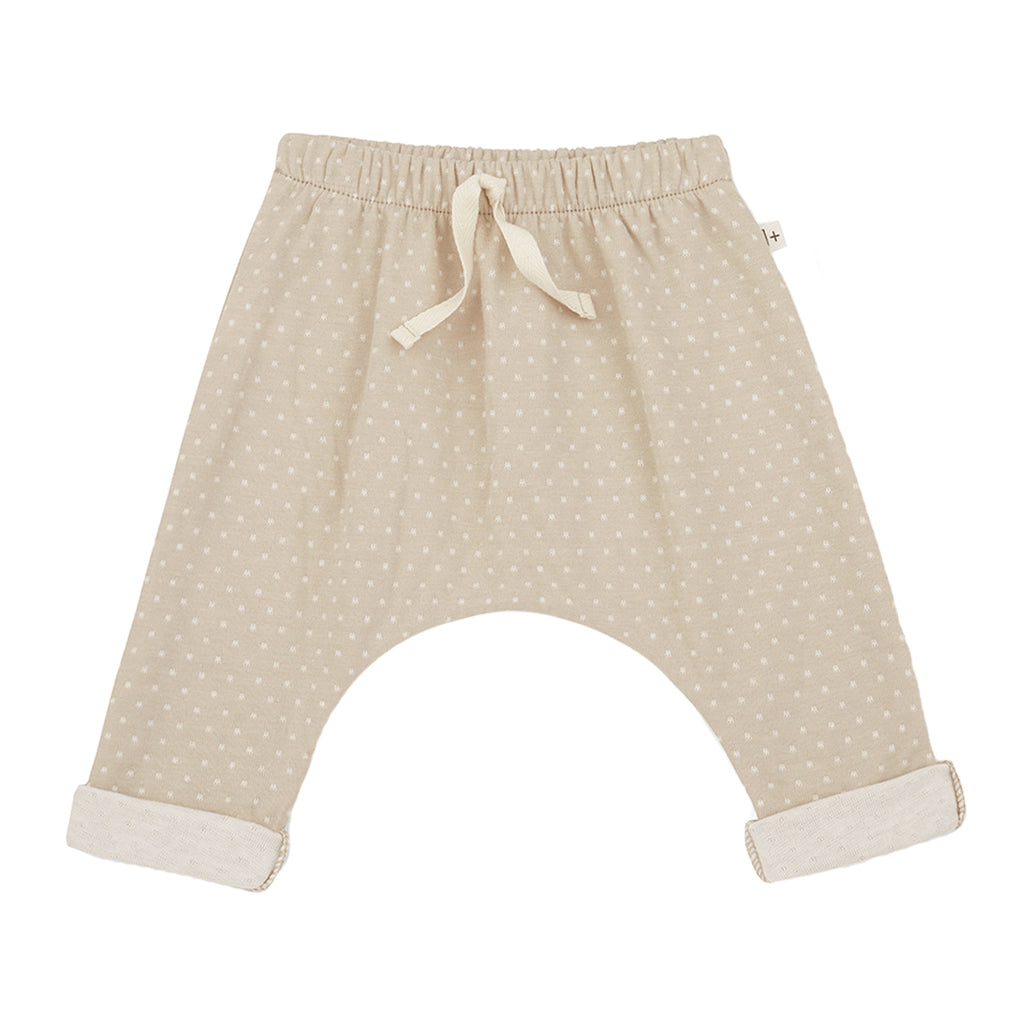 1+ in the Family - Adrien Micro Dot Pant - Beige | Mapamundi Kids