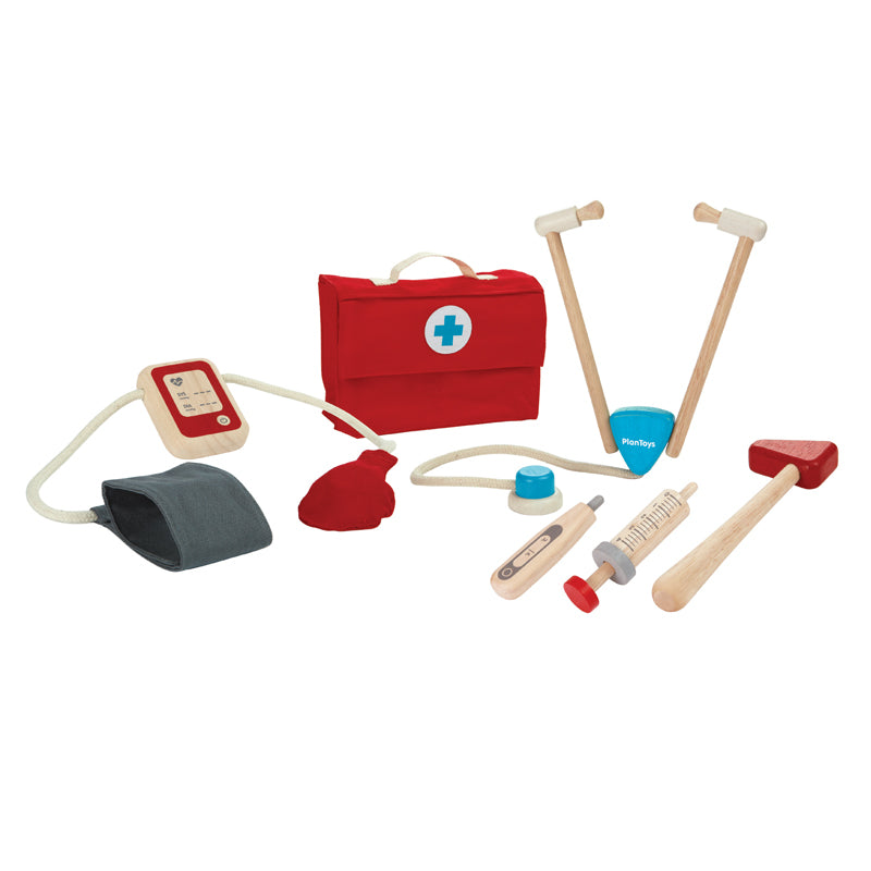 Plan Toys - Wooden Doctors Kit in Bag