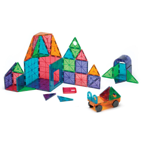Magna-Tiles DX - Clear Colors - 48 Pc Set