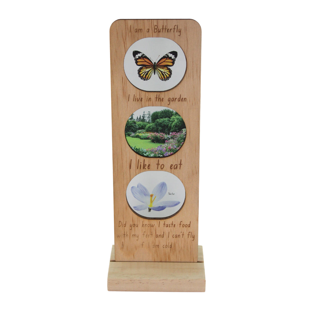 5 Little Bears - In the Garden Ecosystem Plaque - Monarch Butterfly | Mapamundi Kids