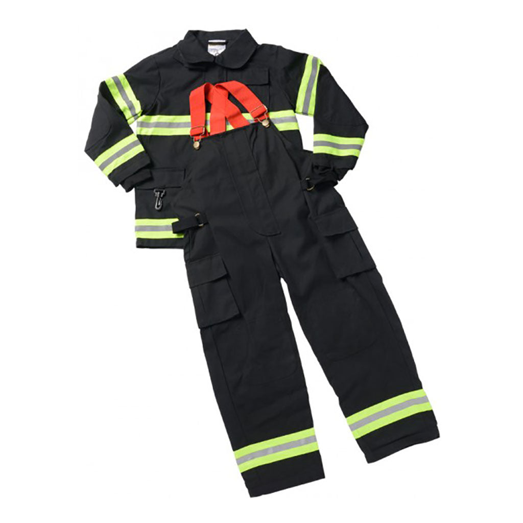 Jr Firefighter Suit Black