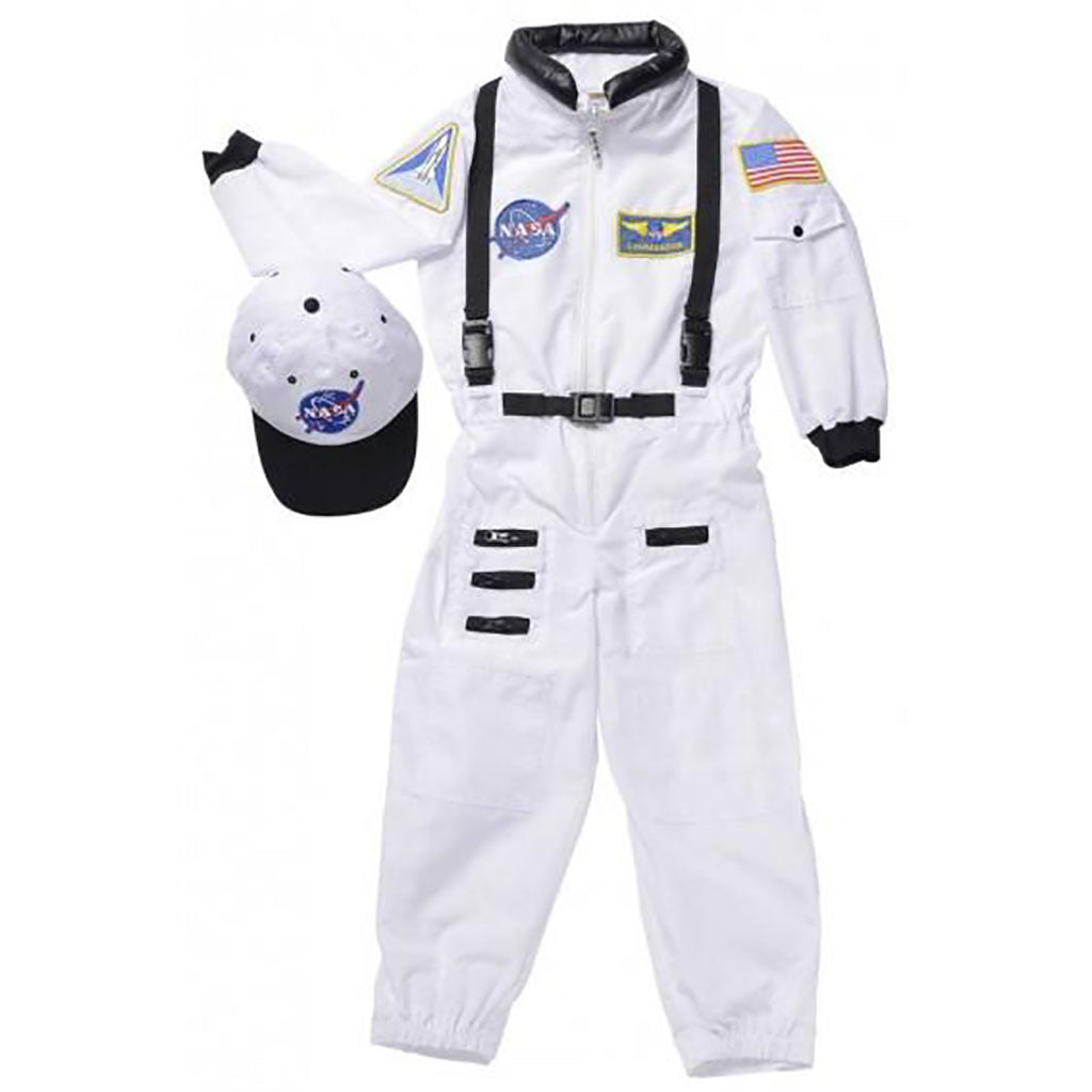Jr. Astronaut Suit with Cap - White