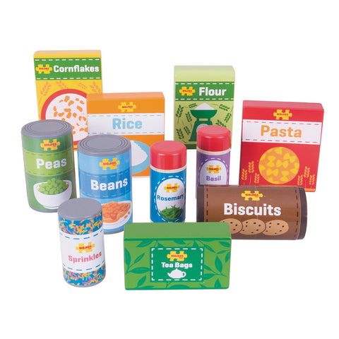 BigJigs - Wooden Cupboard Groceries
