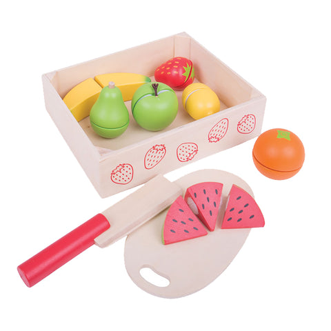 BigJigs - Wooden Cutting Fruit in Crate