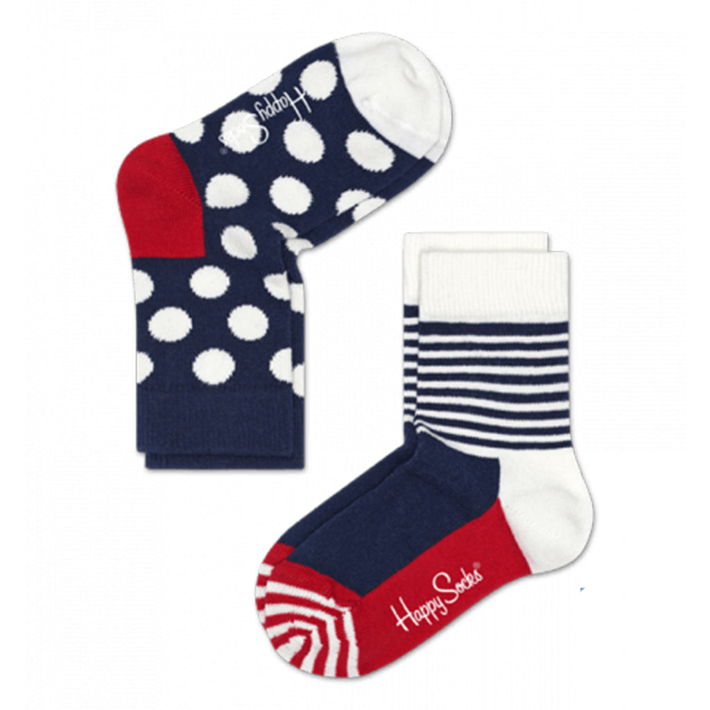 Happy Socks - 2 Pack Socks - Red White & Blue