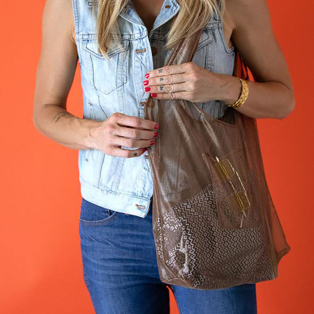 Junes - Original Mesh Bag - Handmade in Los Angeles, CA