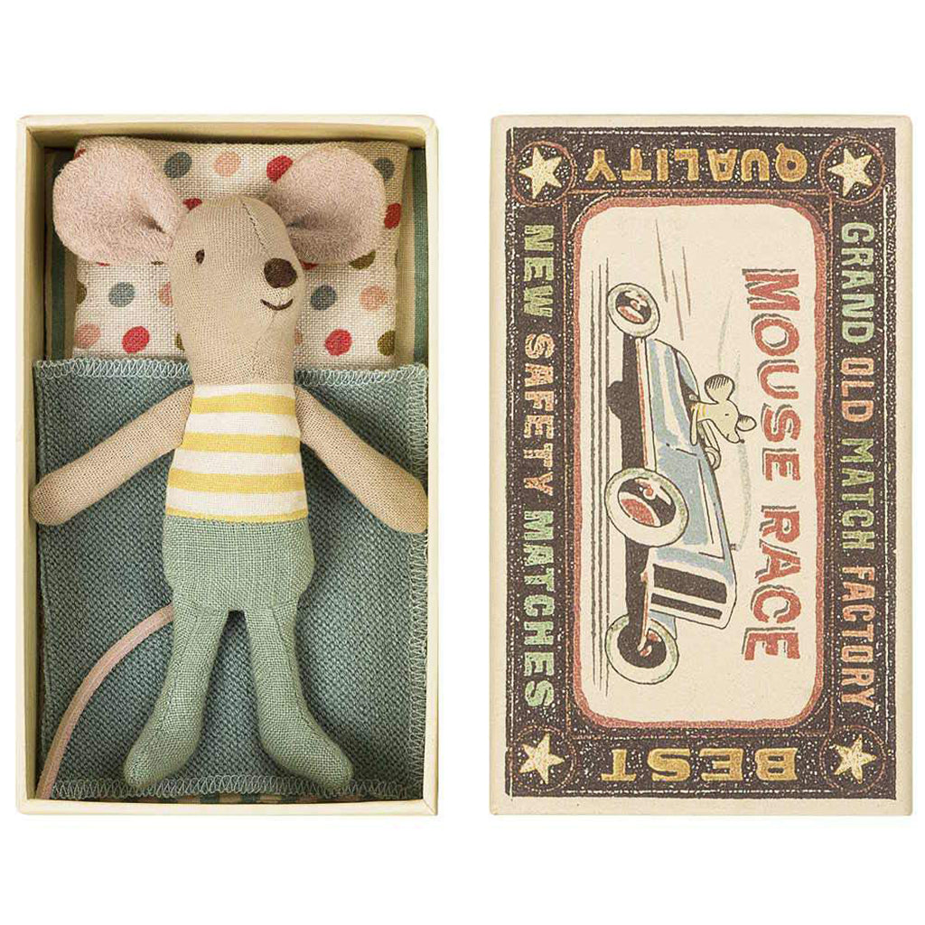 Maileg - Little Brother Mouse in Box - Summer Stripe