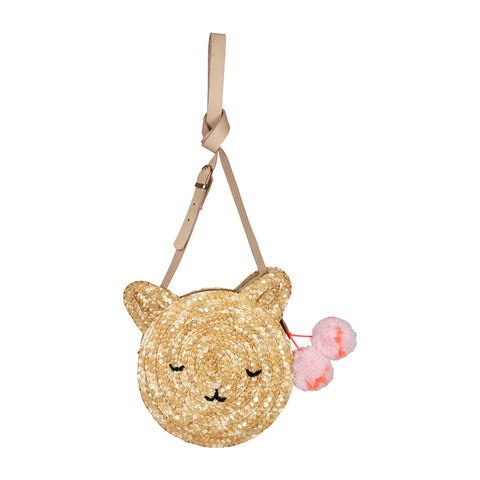 Meri Meri - Cat Raffia Circle Bag