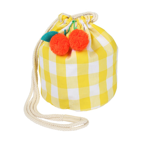 Meri Meri - Yellow Gingham Cherry Bag