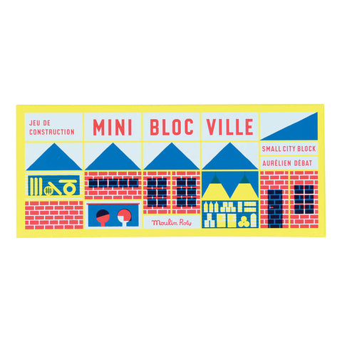 Moulin Roty - 23 Pc Mini Town Block Set