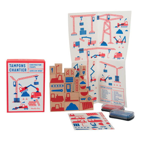 Moulin Roty - Construction Stamp Set