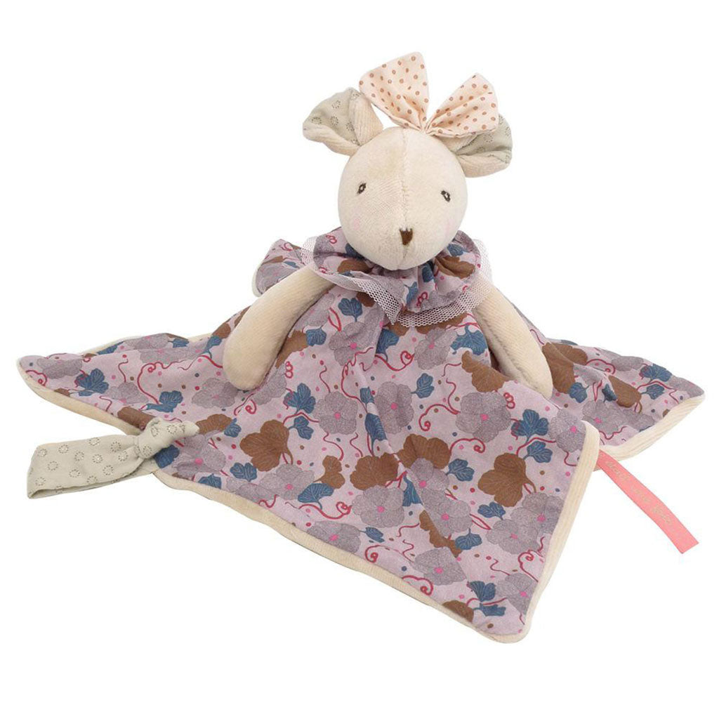 Moulin Roty - Pink Flowers Mouse Lovey