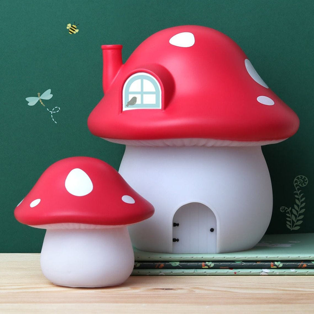 A Little Lovely Company - Little Red Mushroom Light | Mapamundi Kids