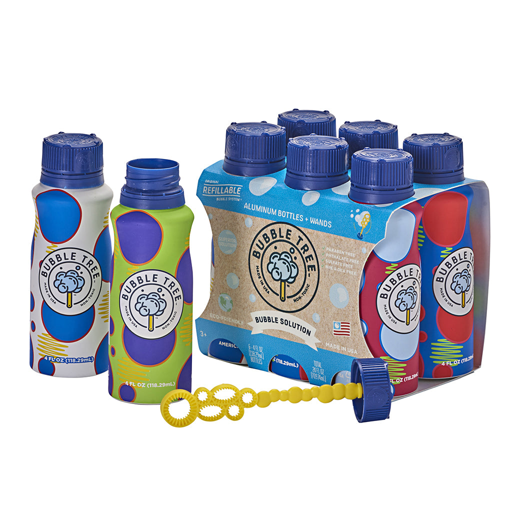 Bubble Tree - 6-Pack Original Refillable Bubble Bottle System | Mapamundi Kids