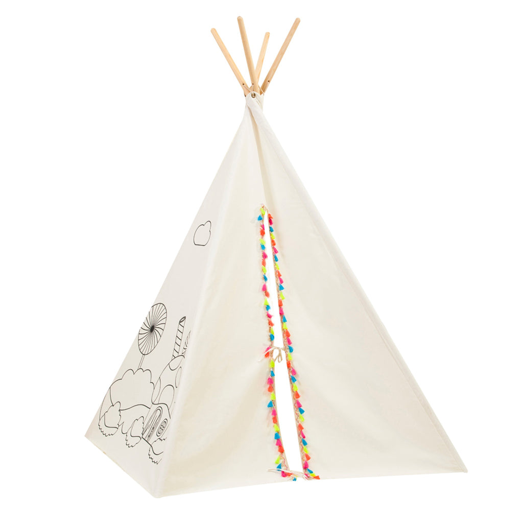 Asweets | Painting Teepee with Coloring Supplies