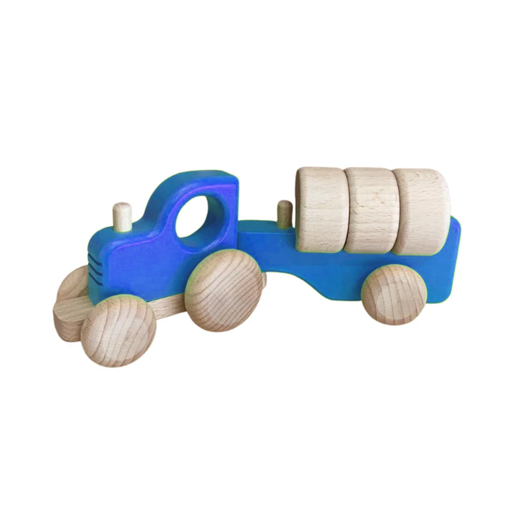 Bajo - Wooden Tractor with Blocks - Made in Poland | Mapamundi Kids