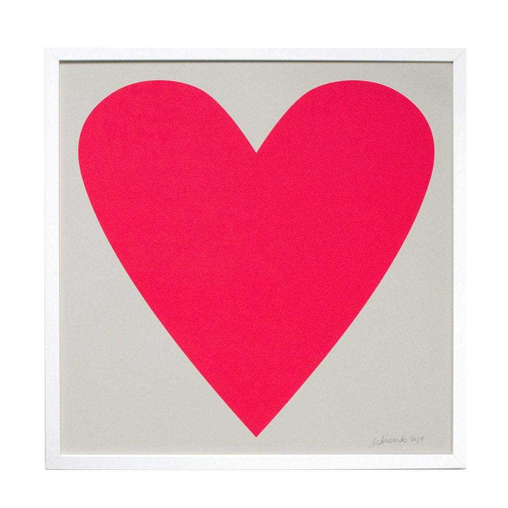 Banquet - Neon Pink Heart Print - Designed and Printed in Canada