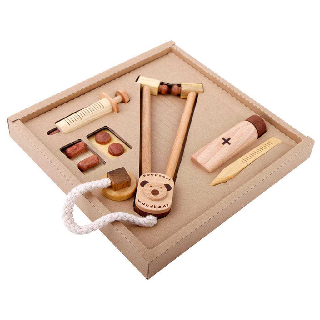 Beyond 123 - Soopsori Natural Wood Doctor Play Set | Mapamundi Kids