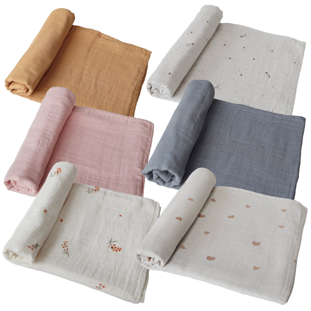 BIBS USA - Mushie Organic Cotton Muslin Swaddle Blanket | Mapamundi Kids