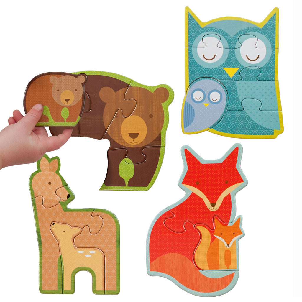 Petit Collage - Forest Babies Beginner Puzzle - Finished Puzzles