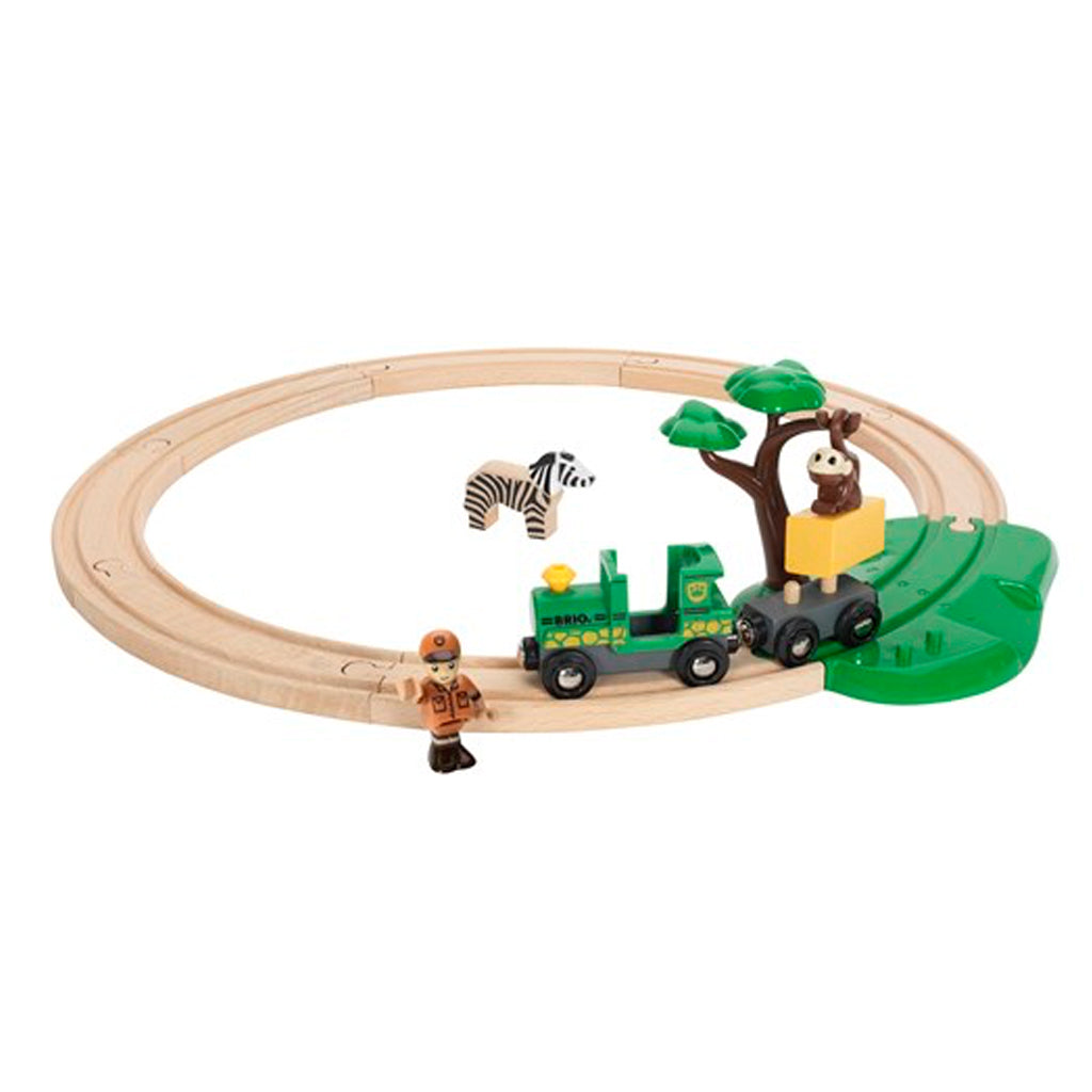 Brio - Safari Railway Set with Giraffe and Zebra