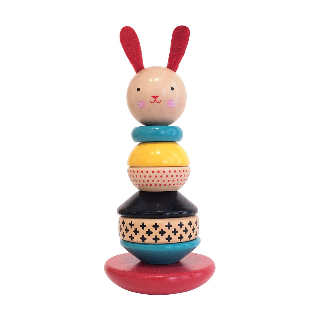 Petit Collage - Modern Bunny Wooden Stacking Toy